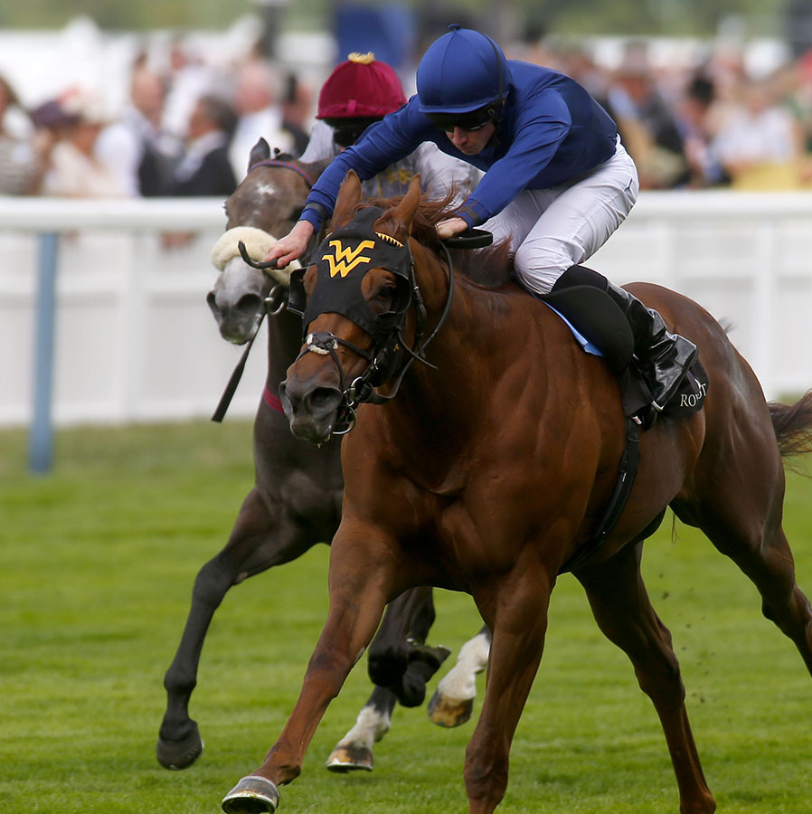 "Acapulco and Ryan Moore  winning The Queen Mary Stakes Royal Ascot 17.6.15 Pic Dan Abraham-racingfotos.com  THIS IMAGE IS SOURCED FROM AND MUST BE BYLINED ""RACINGFOTOS.COM"""