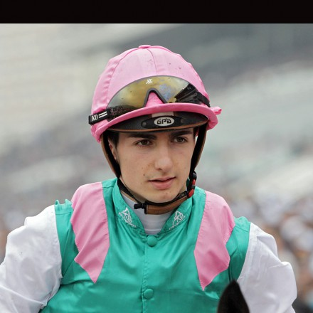"13.12.2015, Sha Tin, Hong Kong, China, Portrait of jockey Vincent Cheminaud. Photo FRANK SORGE/Racingfotos.com  THIS IMAGE IS SOURCED FROM AND MUST BE BYLINED ""RACINGFOTOS.COM"""