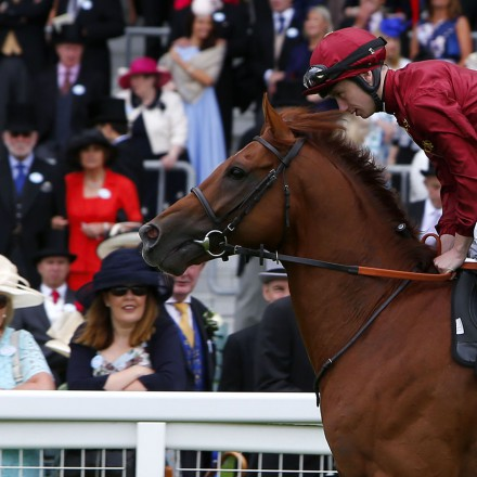 """Lightning Spear and Oisin Murphy Royal Ascot 14.6.16 Pic Dan Abraham-racingfotos.com  THIS IMAGE IS SOURCED FROM AND MUST BE BYLINED """"RACINGFOTOS.COM"""""""