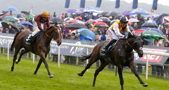 Quest For More and George Baker winning The Weatherbys Hamilton Lonsdale Cup from Pallasator