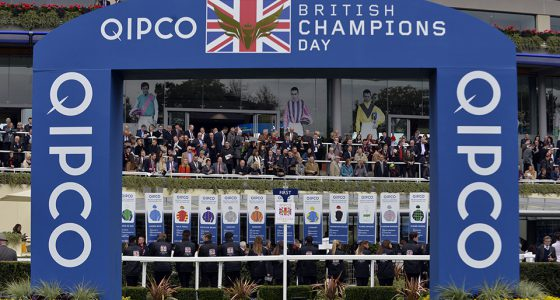 """17.10.2015, Ascot, GB, View at the parade ring at Champions Day. Photo FRANK SORGE/Racingfotos.com  THIS IMAGE IS SOURCED FROM AND MUST BE BYLINED """"RACINGFOTOS.COM"""""""