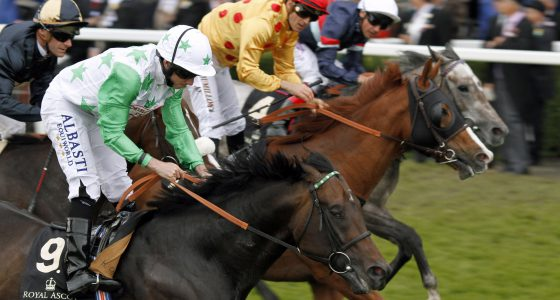 """TWILIGHT SON (Ryan Moore) beats GOLD FUN (centre) and MAGICAL MEMORY (farside) in The Diamond Jubilee Stakes Royal Ascot 18 Jun 2016 - Pic Steven Cargill / Racingfotos.com  THIS IMAGE IS SOURCED FROM AND MUST BE BYLINED """"RACINGFOTOS.COM"""""""