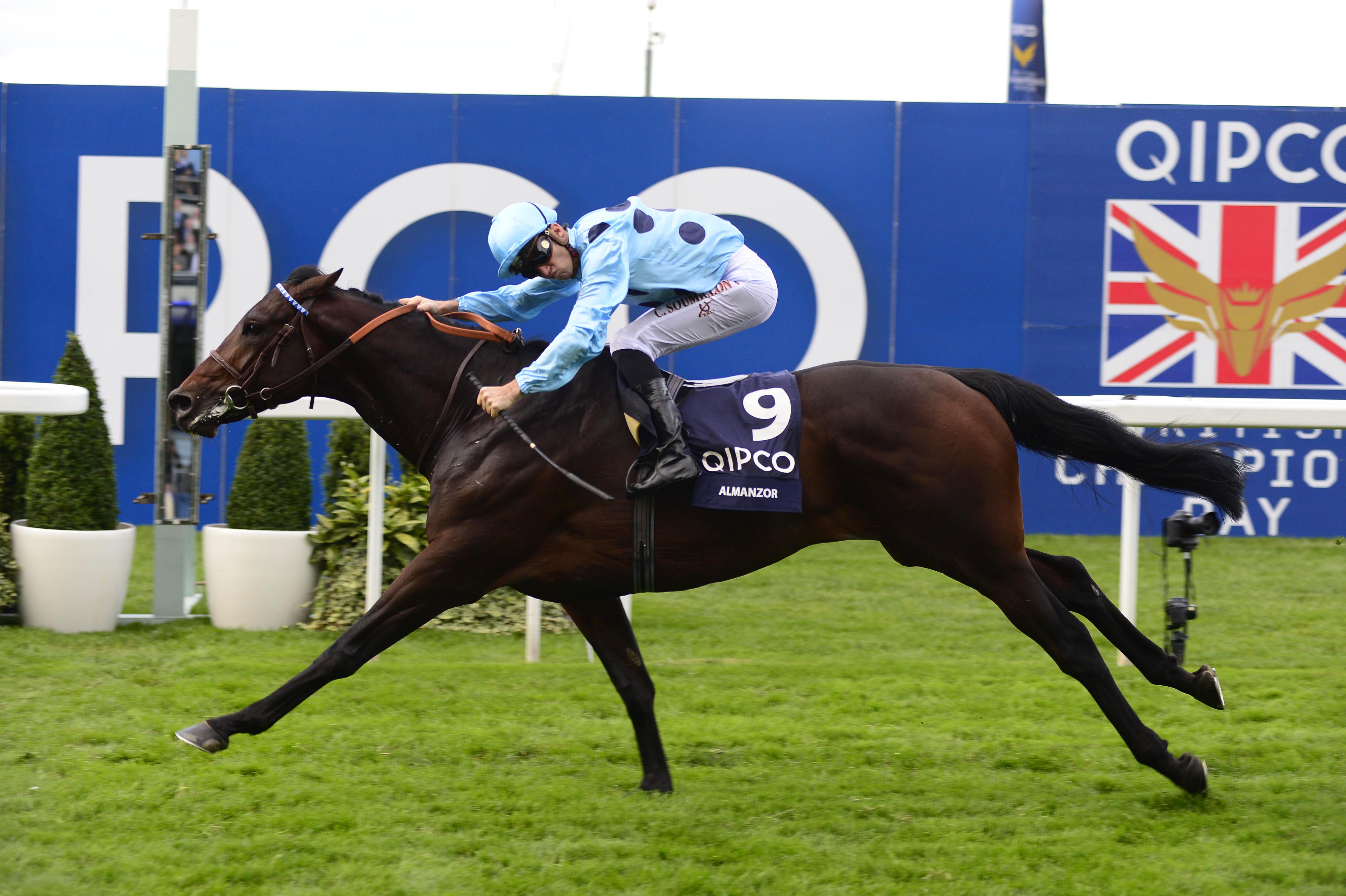 Almanzor and Christophe Soumillon win the QIPCO Champion Stakes