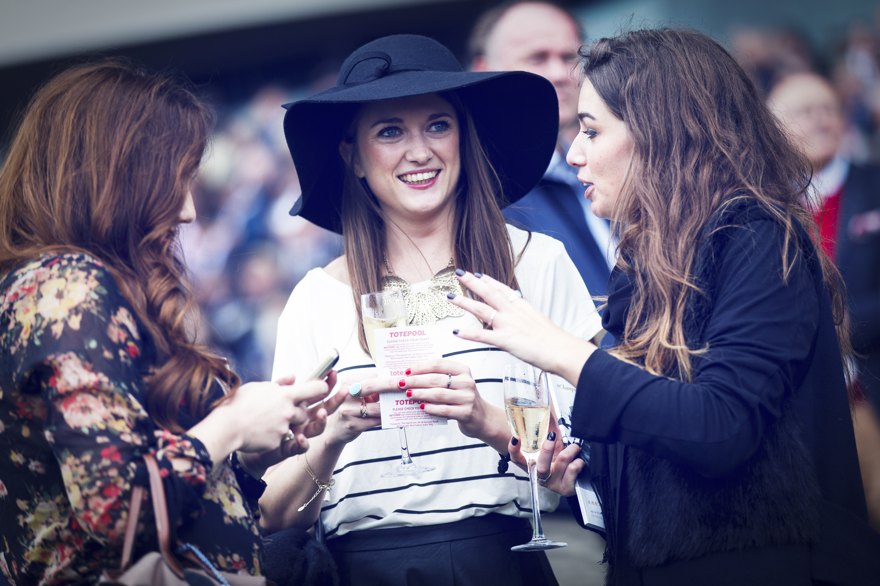 The Crowd watch on at QIPCO British Champions Day at Ascot Racecourse in October