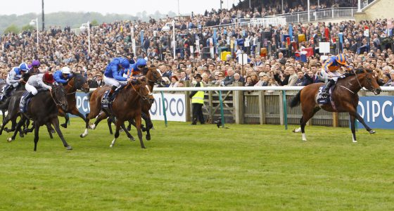 "Churchill and Ryan Moore win the Qipco 2000 Guineas Stakes from Barney Roy and Al Wukair. 6/5/2017 Pic Steve Davies/Racingfotos.com  THIS IMAGE IS SOURCED FROM AND MUST BE BYLINED ""RACINGFOTOS.COM"""