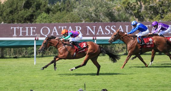 Lady Bowthorpe wins the Nassau Stakes